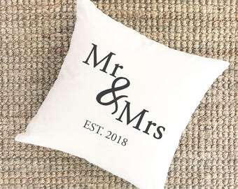 Wedding Gift for Couple Pillow | Personalized Newlyweds Gift | Engagement Gift for Daughter Pillow | Shower Gift | Wedding Day Pillow Gifts