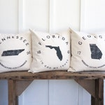 State Pillows, College Student Gift, Dorm Room Decor Pillows, Maryland Rhode Island South Dakota Tennessee Texas Utah Vermont Virginia Idaho