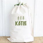 Personalized Laundry Bag for Camping. Multiple Color options, Two Sizes Heavy Duty Durable Canvas with Shoulder Strap Grad Gift, Monogrammed