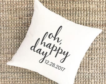 High School Graduation Gift Class of 2018 Gift for Her | Oh Happy Day Pillow | Personalized Gifts