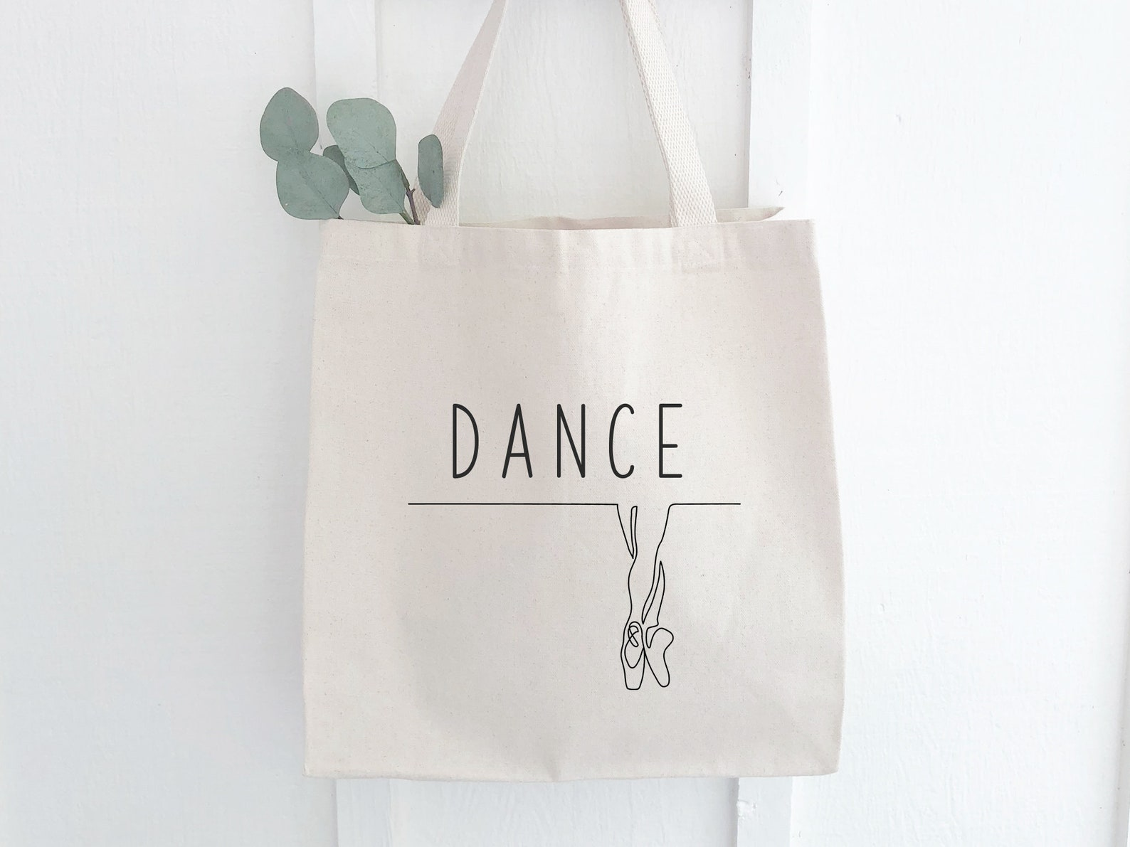 personalized dance bag with any name. roomy durable carrying bag for ballet shoes and dance clothes.