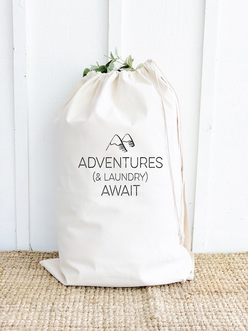 Funny Adventures Quote Laundry Bag Unique High School image 0
