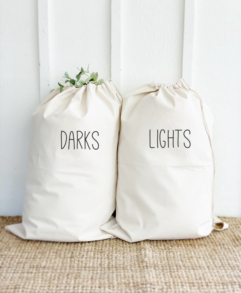 Lights and Darks Laundry Bags Summer Camp Bags Dirty Clothes image 0
