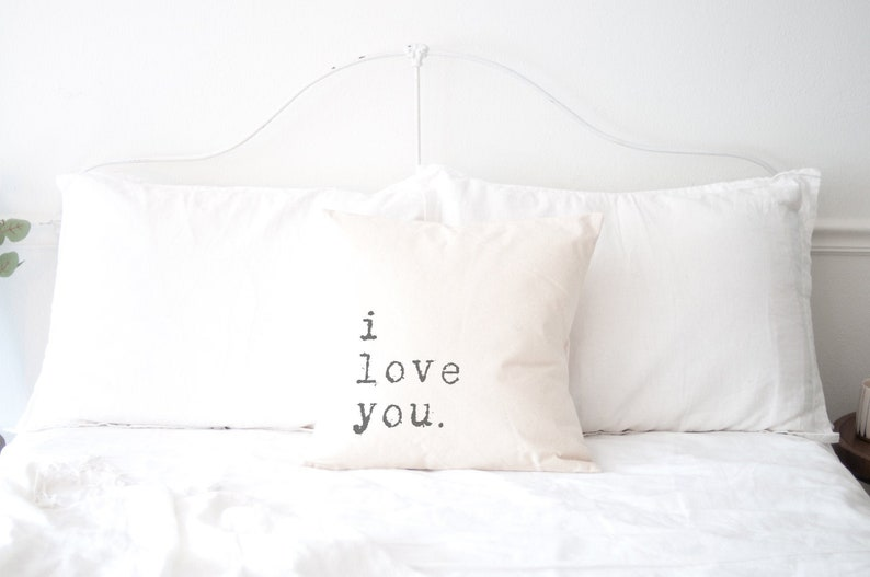 I Love You Canvas Quote Pillow Graduation College Gift for image 0