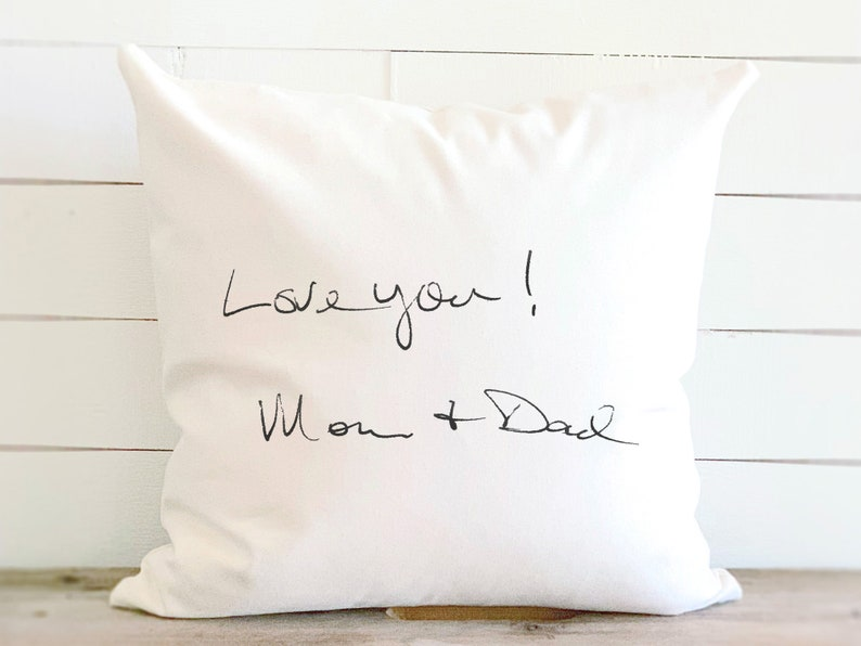 Handwriting gift custom handwriting pillow personalized image 0