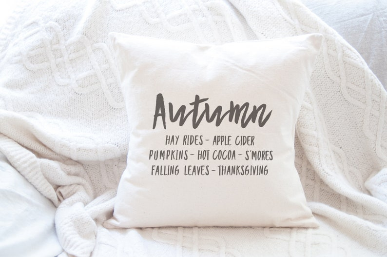 Autumn Weather Canvas Pillow 18x18 in cushion cover with image 0