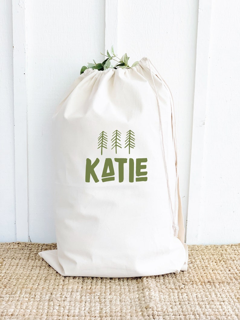 Personalized Laundry Bag for Camping. Multiple Color options image 0