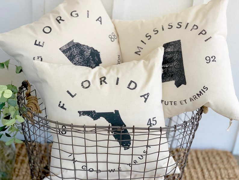 Custom State Pillows In Any State  State Pride Home Gift  image 0