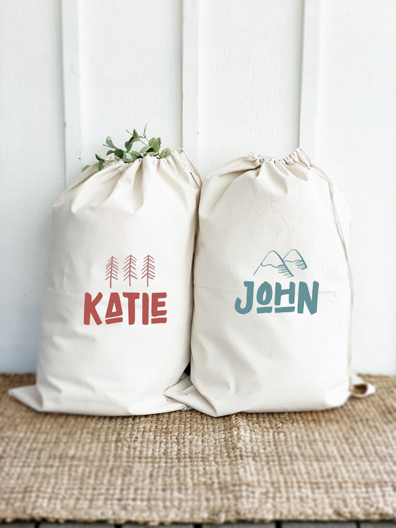 Personalized Camp Laundry Bags. Multiple Color options Two image 0