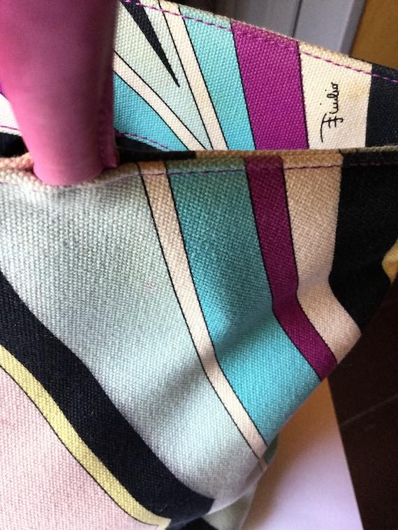 Vintage 1970 Emilio Pucci bag Tapestry Bag