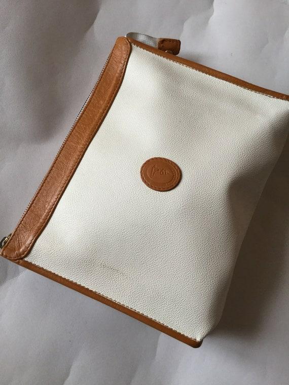 Vintage Auth Brandname Trussardi White Handbag