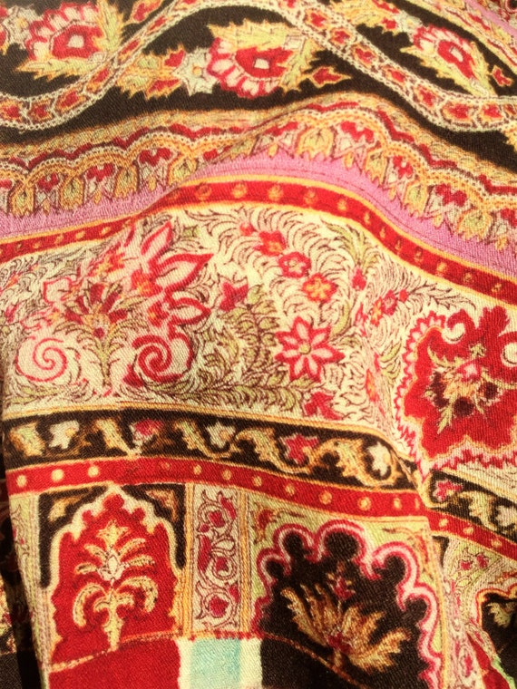 Victorian wool paisley shawl large, victorian acce