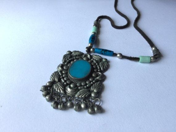 Tribal necklace tribal Necklace, vintage vintage v
