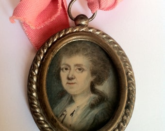 Victorian Portrait with Frame-Victorian Portrait with metal frame