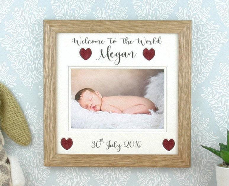 Neue Baby-Geschenk personalisierte Bilderrahmen | Etsy