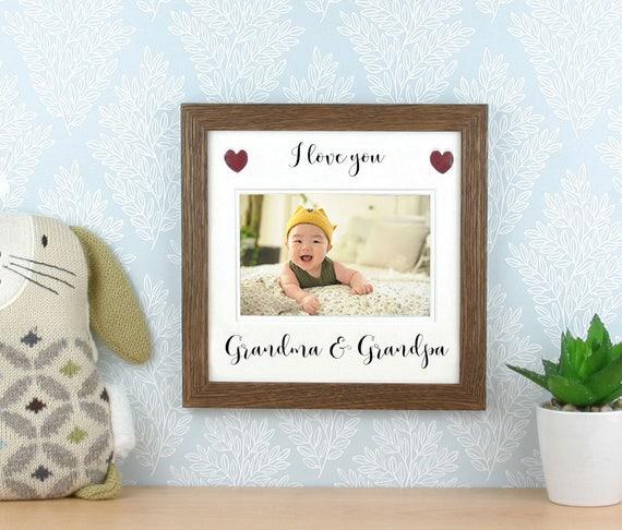 Grandparents picture frame Photo frame. Gift for Grandma | Etsy