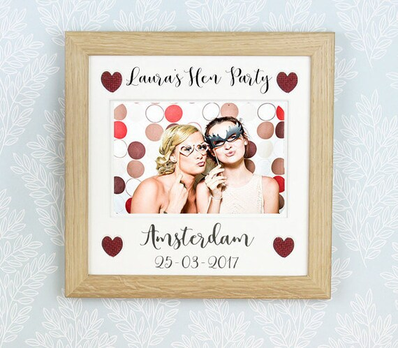 Personalised Hen Party photo frame Hen do frame Bachelorette | Etsy