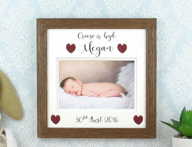 Rahmen Sie neues Baby Willkommen in der Welt Baby-Geschenk