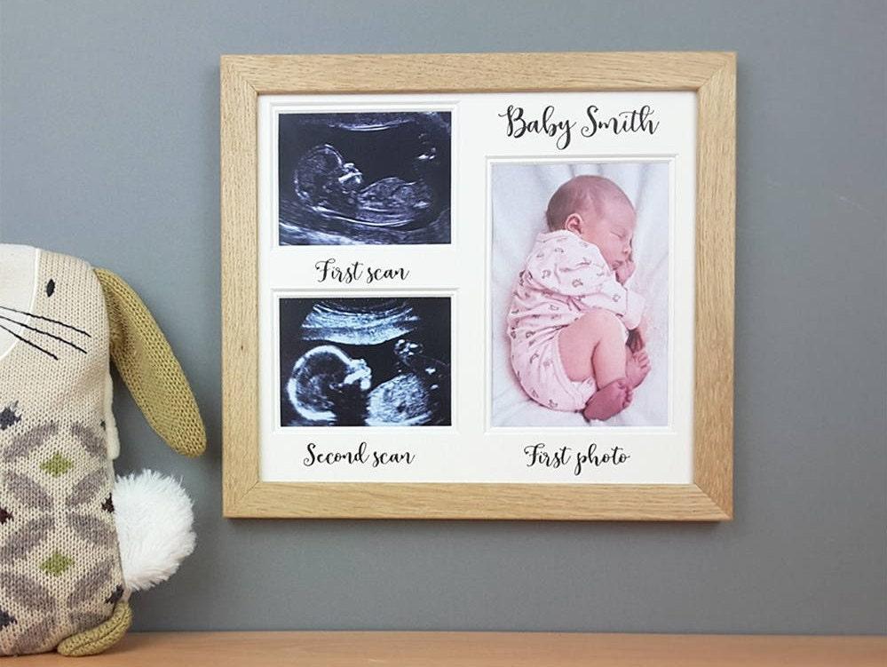 Personalisierte Baby-Scan-Rahmen Baby-Dusche-Geschenk | Etsy