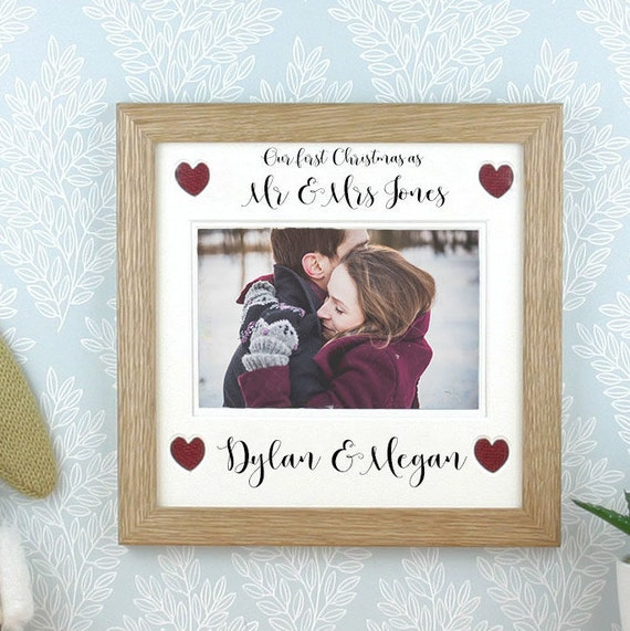 Our First Christmas As Mr And Mrs Photo Frame Picture Frame Etsy