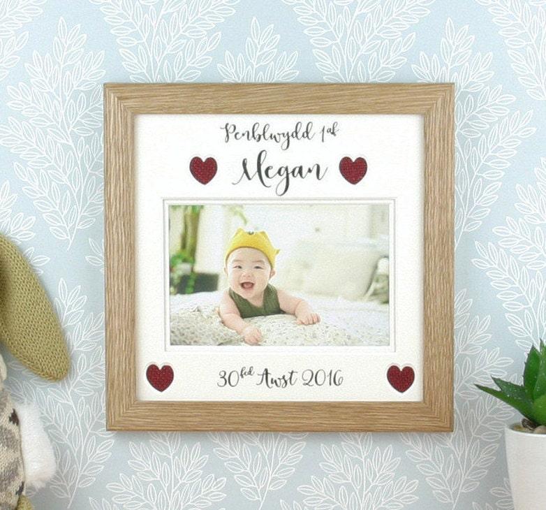 Ersten Geburtstagsgeschenk Frame Baby Welsh.