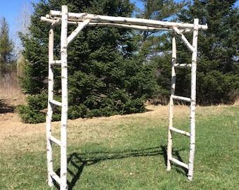White Birch Wedding Arch