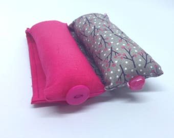 Soft Curlers, Grey, Mauve and Pink, Set of 15, Handmade, Sleep in Rollers, Hair Accessories