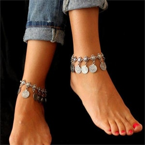 Star Coin Anklet Set with Gift Box Luminous 4 Piece Thunder Bolt