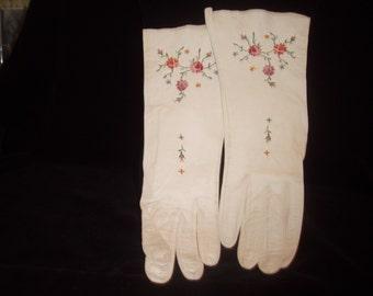 White kid gloves circa l950