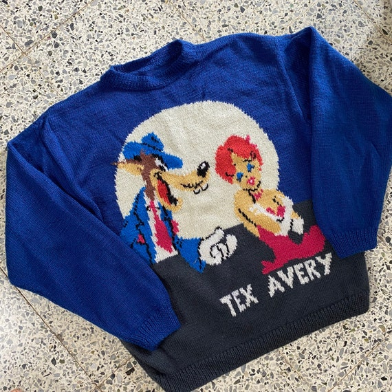 1990s Tex Avery WOLF Sweater, Vintage Sweater
