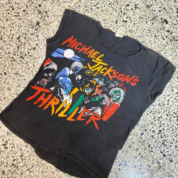 1980s Michael Jackson Thriller T-Shirt, Zombie T-s