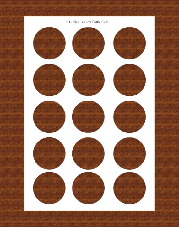 1 inch circle template bottlecap collage sheet template 4x6 etsy image 0 maxwellsz