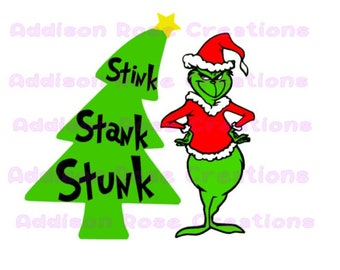 Grinch Christmas Tree SVG, PDF, JPEG