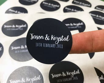 Round Stickers for wedding favors - Personalised wedding stickers, round stickers, wedding stickers,candle stickers, candle favours