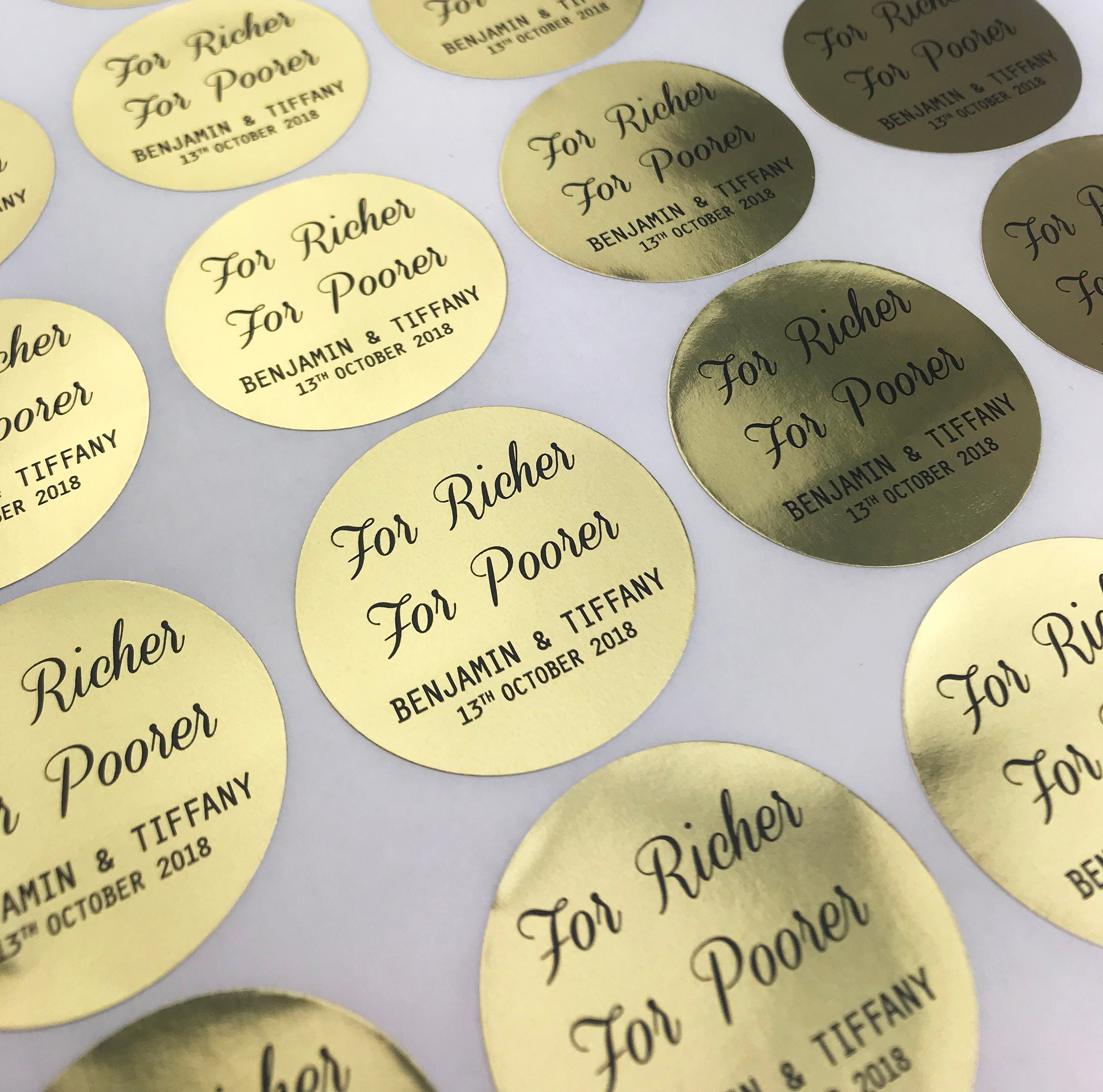 Round foil stickers 45mm personalised wedding stickers round stickers wedding favor candle favoursenvelope seals favour tag