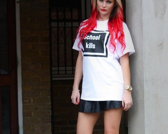 School Kills  t-shirt / Premium Quality ! - Made in London / Fast Delivery to the Usa , Canada , Australia & Europe !