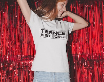 Trance Is My World T-shirt / Premium Quality ! - Made in London / Fast Delivery to the Usa , Canada , Australia & Europe !