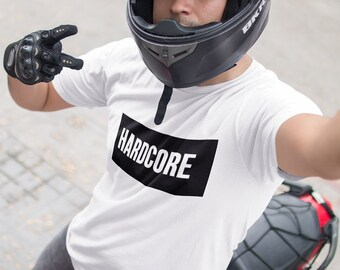 HARDCORE T-SHIRT / Biker - Tshirt  / Premium Quality ! - Made in London / Fast Delivery to the Usa , Canada , Australia & Europe !
