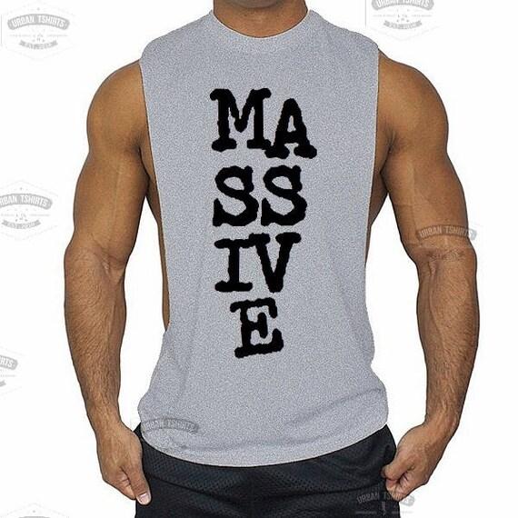 Coupe-bas MASSIVE Muscle Gym gilet - sport Muscle Sideless sans manches maillots Tank Top homme \ de qualité supérieure!  Livraison rapide!