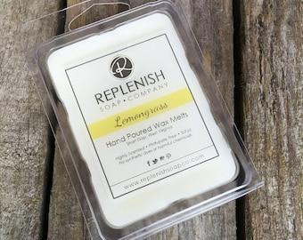 Lemongrass Wax Melts, Wax Tarts, Scented Wax Melts, Soy Wax Melts, Flameless Candle, Phthalate Free, Soy