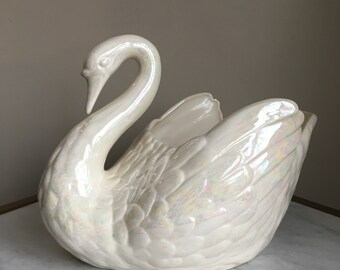 Large Swan Planter Etsy