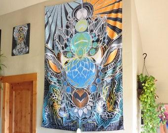 Cosmic Owl Tapestry
