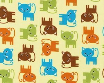 Cat Fabric fat quarters,100/% cotton from Robert Kaufman 11508 Urban Zoologie