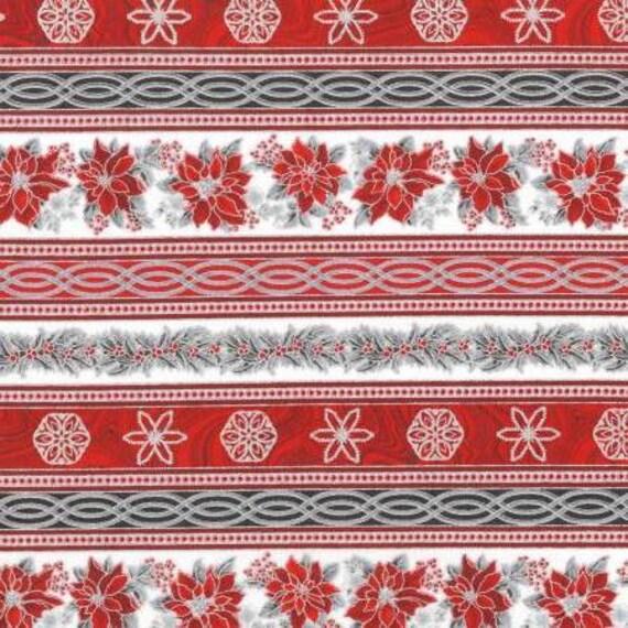 """Robert Kaufman Winter White 3 Christmas Blocks Ice Gray 23/"""" Fabric Panel"""