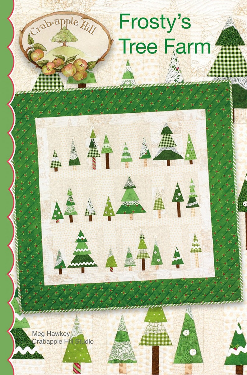 Quilt Pattern Frosty S Tree Farm Christmas Tree Quilt Etsy