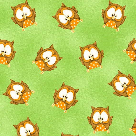 FAT QUARTER  OWLS   ABC 123   NOVELTY PRINTS FROM HENRY GLASS QUILTING COTTON