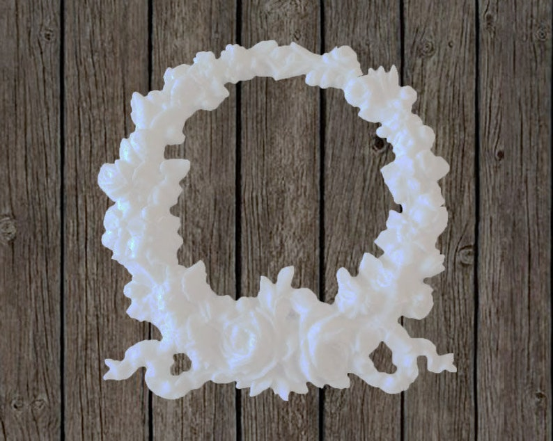 Shabby chic furniture appliques huge rose wreath home decor