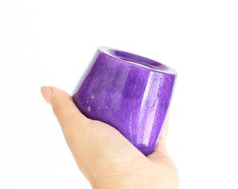 Ultra Violet Jelly Soap. Purple. Ylang Ylang Essential Oil. Black Amber Musk Fragrance. Bath. Shower. Pantone Color of the Year.