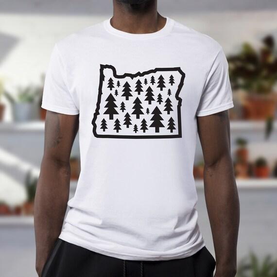 Oregon Outline T-Shirt Tee Shirt S M L XL 2XL 3XL Cotton OR