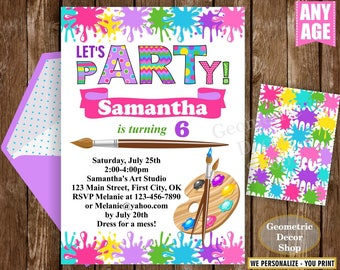 Art party invitation etsy painting party invitation art party invitation art birthday party invitation art themed party paint party invites painting party paint4 stopboris